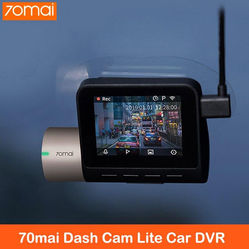 70mai Dash Cam 1080P HD Lite gps Автомобильный видеорегистратор D08 130 градусов широкий угол g-сенсор ночное видение режим парковки