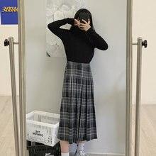Pleated Plaid Skirt for Women's 2021 Spring and Summer New Mini Large Loose Medium Length High Waist A-line Skirt