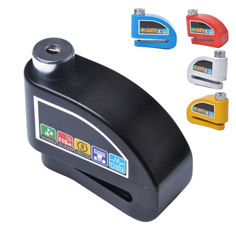 Motorcycle Alarm Lock Bike Alarm Lock Safety Waterproof Motorcycle Brake Disc Alarm Lock Bike Lock