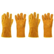 2 Pairs Fireproof Leather Welder Gloves Anti Heat Work Safety Welding Protector