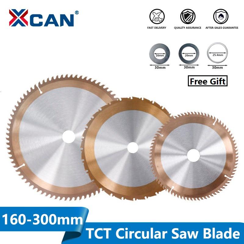 XCAN 1pc 160/165/185/210/255/300mm Woodworking Saw Blade With 24/80 Teeth TICN Coated TCT Saw Blade Circular Saw Cutting Discs
