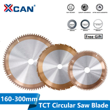 XCAN 1pc 160/165/185/210/255/300mm Woodworking Saw Blade With 24/80 Teeth TICN Coated TCT Circular Cutting Discs