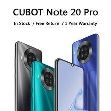 Cubot-teléfono inteligente Note 20 Pro, Quad cámara trasera, batería de 4200mAh, NFC, Android 10, SIM Dual, 4G LTE, pantalla HD de 6,5 pulgadas
