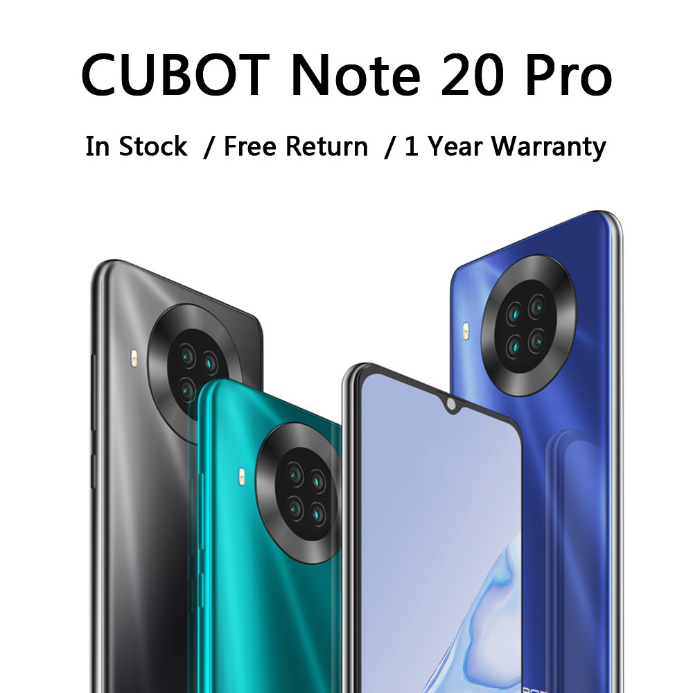 "Cubot Note 20 Pro Smartphone Achter Quad Camera 4200Mah Batterij Nfc Mobiel Android 10 Dual Sim 4G Lte 6.5 ""Hd Display Telefoon"