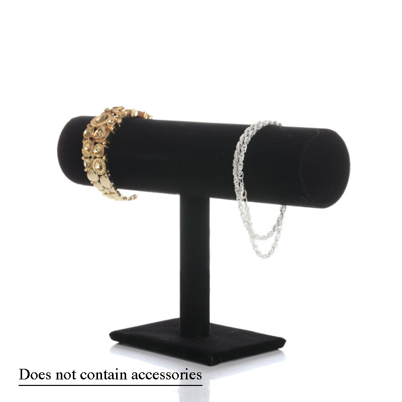 Display Stand T Type Single Layer  Velvet &Leather Headband Jewelry Bracelet Jewelry Organizer  Holder Chain Watch