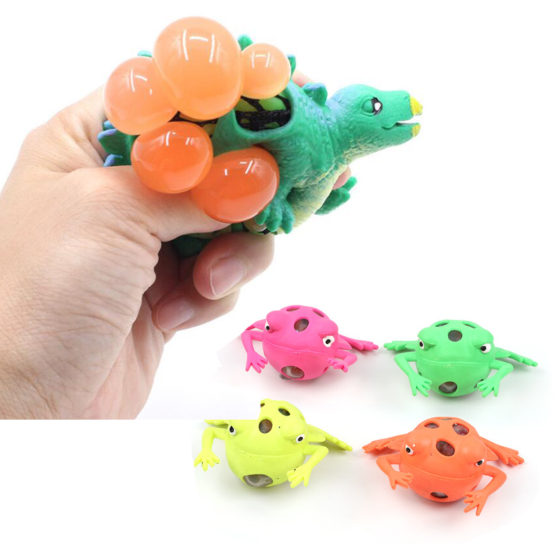 Squeeze Toy Animal Frog Dinosaur Squishy Stuff Vent Ball Novelty Stress Relief Toys For Children Funny Gift
