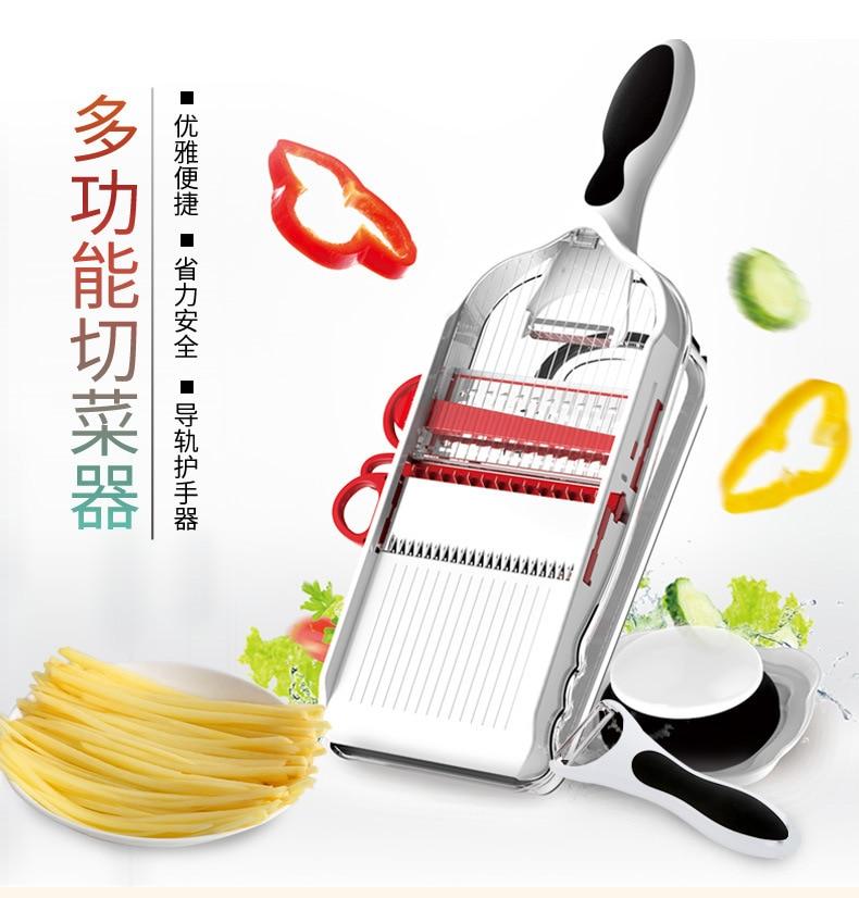 Hot Selling Stainless Steel Push Hand Potato Radish Slice Shredding Machine Multi-function Vegetable Chopper