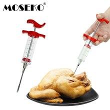 MOSEKO, шприц для барбекю, мяса, маринада, инжектор для птицы, индейки, куриный вкус, шприц, инструмент для приготовления соуса, инструмент для инъекций, кухонные аксессуары