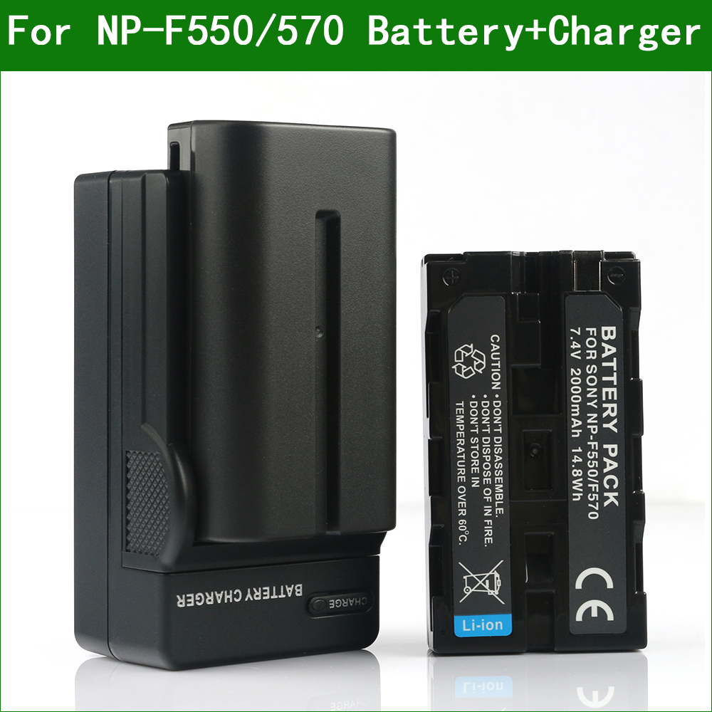 Lanfulang NP-F550 NP F550 Camera Digital <font><b>Battery</b></font> & Charger for Sony NP F330 F570 F730 <font><b>F750</b></font> F770 F930 F950 F960 F970 F980 F990 image