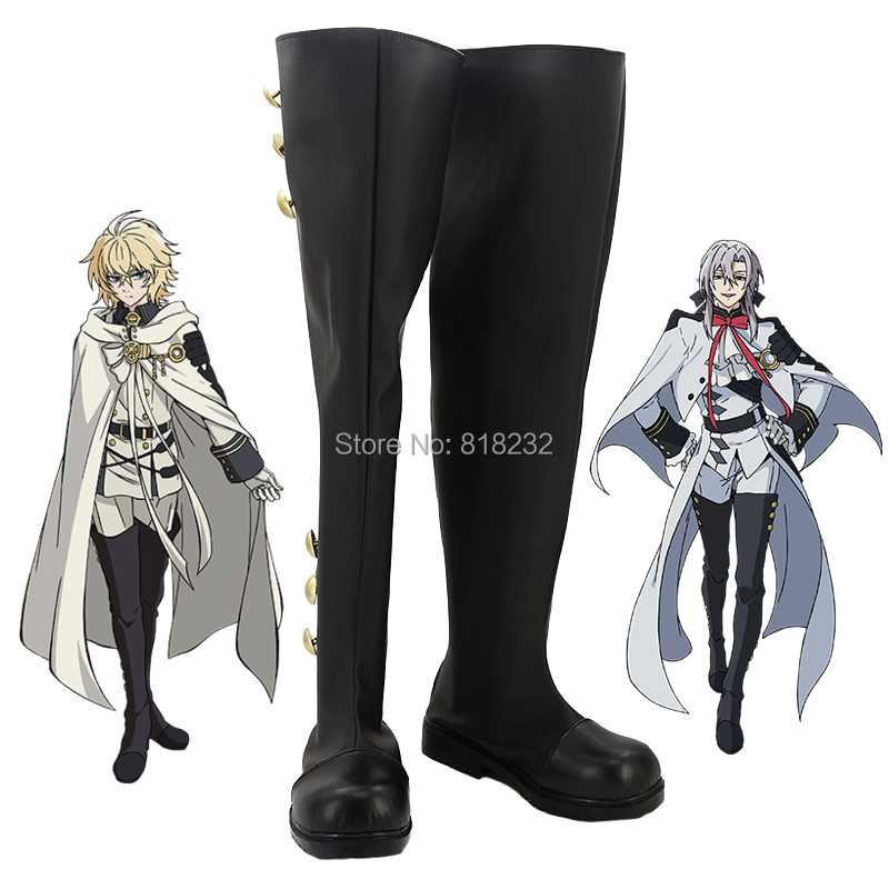 Seraph of the end Ferid Bathory Unisex Anime Customize Shoes Boots