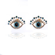 Fashion devils eye studs, lady temperament, simplicity, ethos, creativity, INS, port wind earrings.