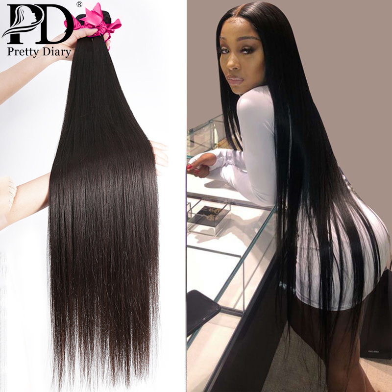28 30 32 34 40 Polegada em linha reta cabelo brasileiro tece pacotes 3 4 pacotes de cabelo humano pacotes único pacotes remy extensões do cabelo