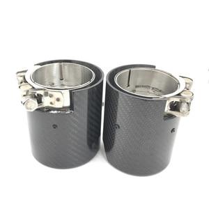 Image 3 - 1PCS Carbon Fiber Exhaut tips for BMW F87 M2 F80 M3 F82 F83 M4 Direct Fit Universal Exhaust Tip
