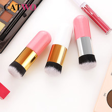 1pc Professional Chubby Pier Foundation Pinsel 5 Farbe Make-Up Pinsel Flach Creme Make-Up Pinsel Professional Kosmetische Make-Up Pinsel