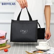 Brivilas новый обед мешок для женщин охладитель портативный ручной молнии мешки водонепроницаемый путешествия завтрак для пикника термо высокого качества