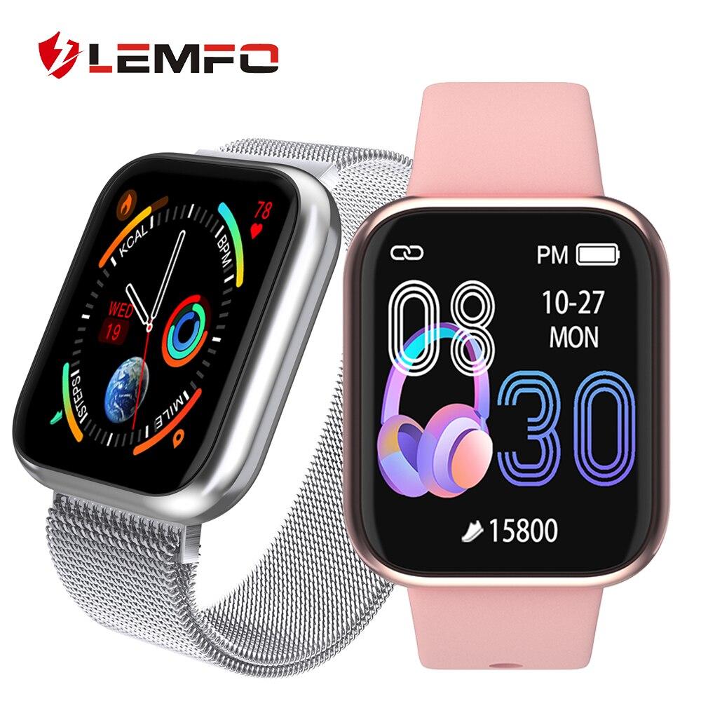 LEMFO Frauen Smart Uhr Herz Rate Blutdruck Blut Sauerstoff Überwachung Schrittzähler Smartwatch Männer Frauen für Apple Android
