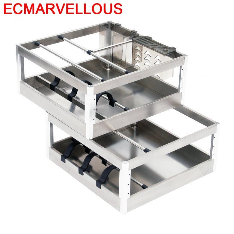Colgar En La Ducha Rangement Keuken Mutfak Malzemeleri Stainless Steel Cuisine Organizer Cozinha Kitchen Cabinet Storage Basket