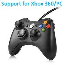 USB kablolu Gamepad Xbox 360 denetleyici çift titreşim Joystick Mando Microsoft XBOX one 360 Windows 7 8 10 adet oyun denetleyicisi