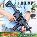 Yeshin pistola motorizada, blocos de construção compatível com MOC-29369 mp5 submáquina, modelo, lepining, tijolo para crianças, brinquedos de natal