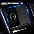 Беспроводное зарядное устройство для Tesla Model 3 Dual Phone, зарядное устройство для салона автомобиля, консоль, аксессуары для всех телефонов Apple и ...