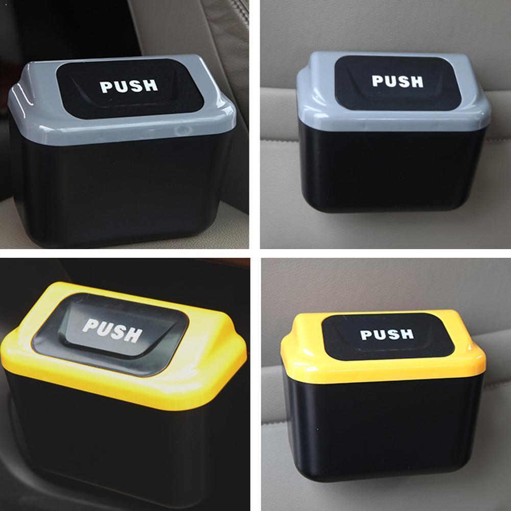 Universal Car Trash Can with Clip Auto Trash Bin Accessories Automatic Organizer For Garbage Lids 2 Bag Storage Rubbish D8P1