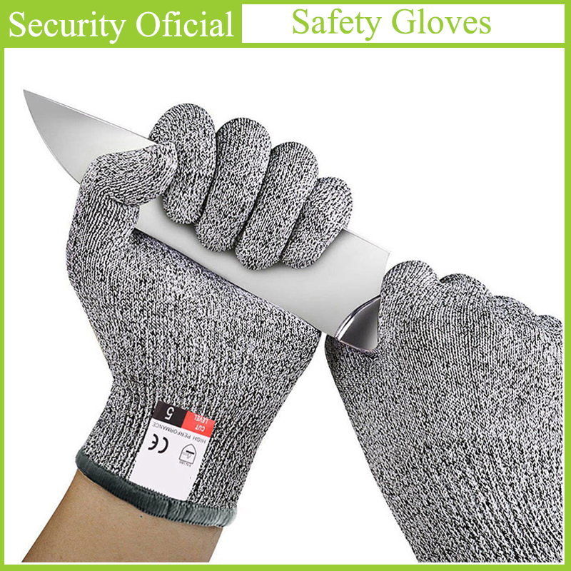CE EN388 Anti Cut Safety Gloves High Quality Cut Resistant Stab Resistant Self Defense Supplies Kitchen Butcher Work Gloves 2019