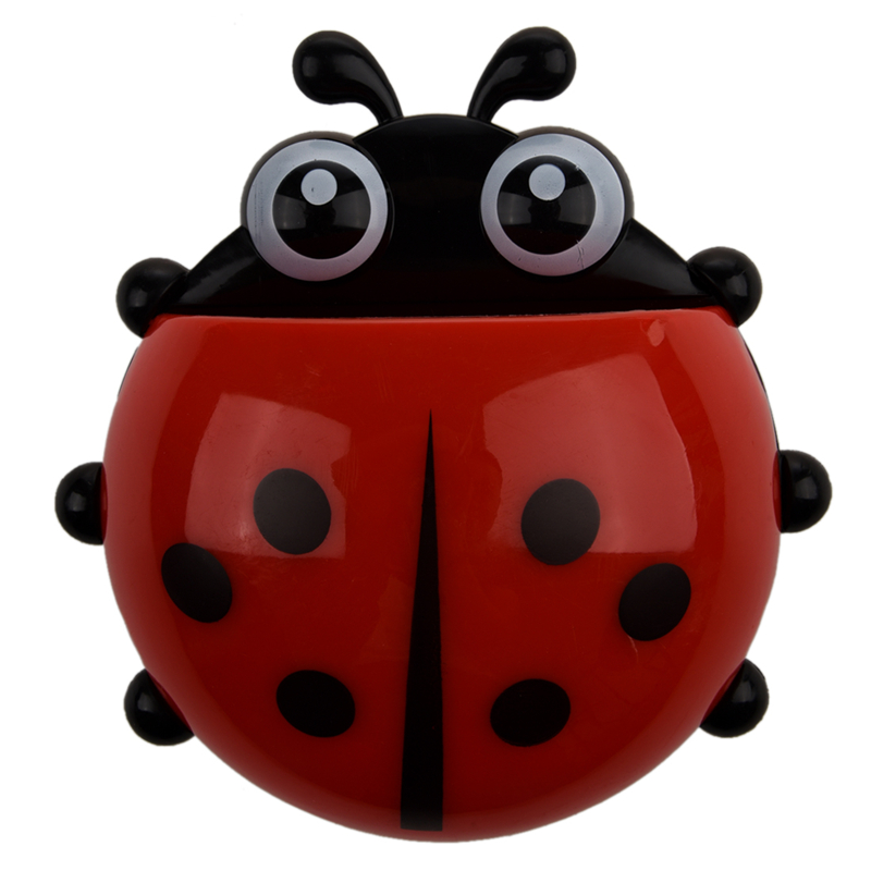 Big deal Convenient Bathroom Toothbrush Stuff Ladybug Wall Suction Holder image