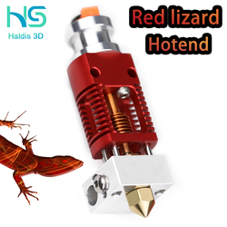 Red Lizard Radiator Ultra Precision 3D printer extruder is compatible with the V6 Hotend and CR10 Ender 3 Hotend adapters