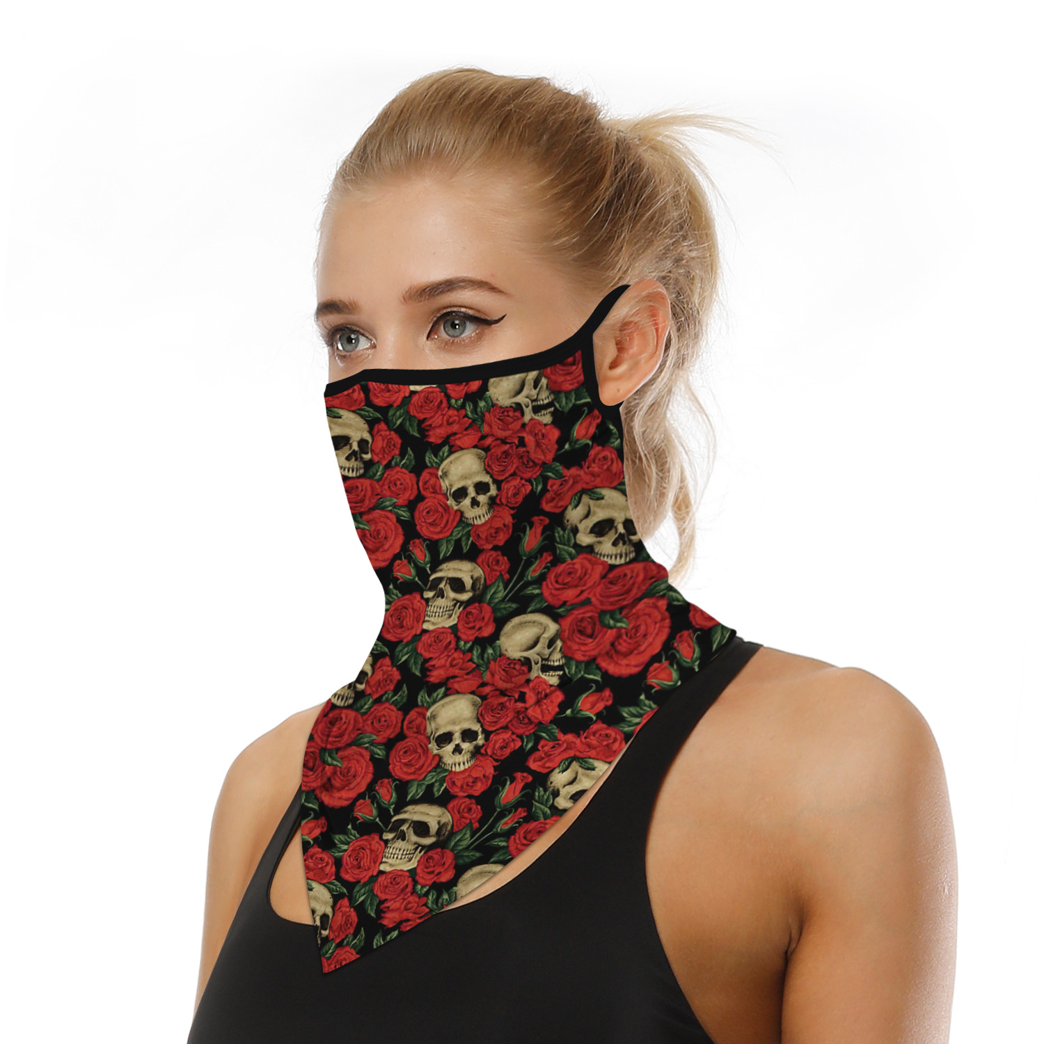Mouth Face Mack 3D Digital Printing Mouth Mask Sport Hiking Hunting Hanging Ear Running Face Sheild Neck Warmer Magic Scarf