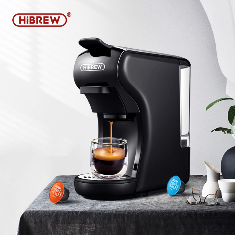 HiBREW Expresso Coffee Machine Capsule Espresso Machine, Pod  Coffee Maker Dolce Gusto  Nespresso  Powder Multiple Capsule