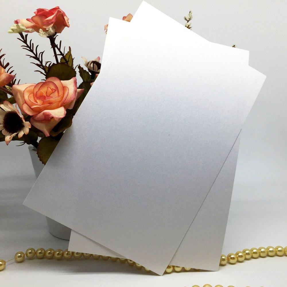 10 шт./упак. блестящая жемчужина бумажные Пригласительные открытки внутренний лист бумаги вставки из ПВХ для свадьбы карты крещение вечерни...