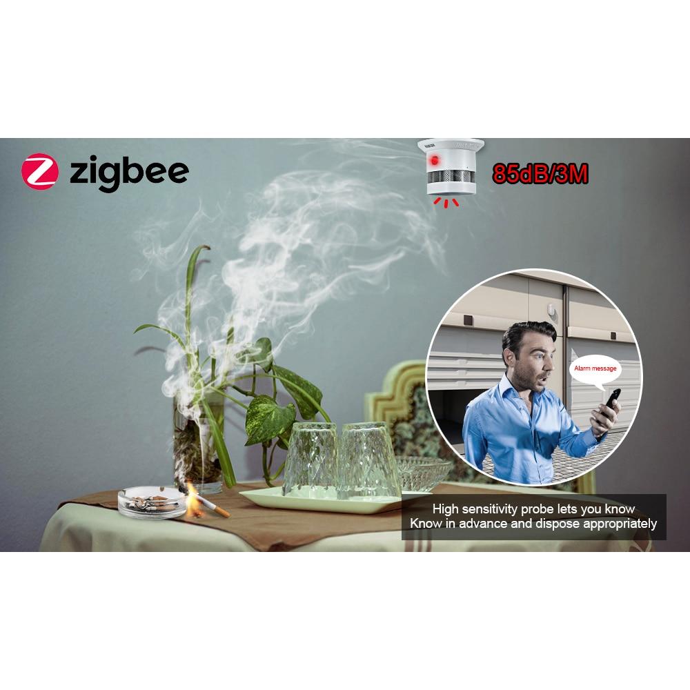Ultimate SaleHEIMAN Zigbee 3.0 Fire alarm Smoke detector Smart Home system 2.4GHz High sensitivity
