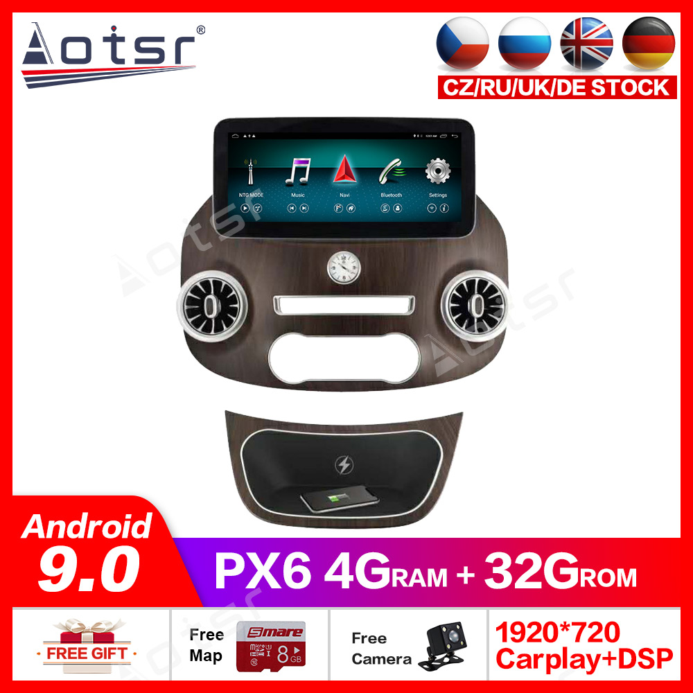 Tesla style <font><b>Android</b></font> 9.0 Multimedia 4GB 64GB ROM Car DVD player for Mercedes Benz V Class Vito Viano Valente Metris <font><b>W447</b></font> headunit image