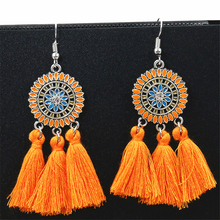 Popular Bohemian Handmade Earrings For Women Boho Style Woman Tassel Earring Female Jewelry Bridal Fringed Retro Pendientes gift