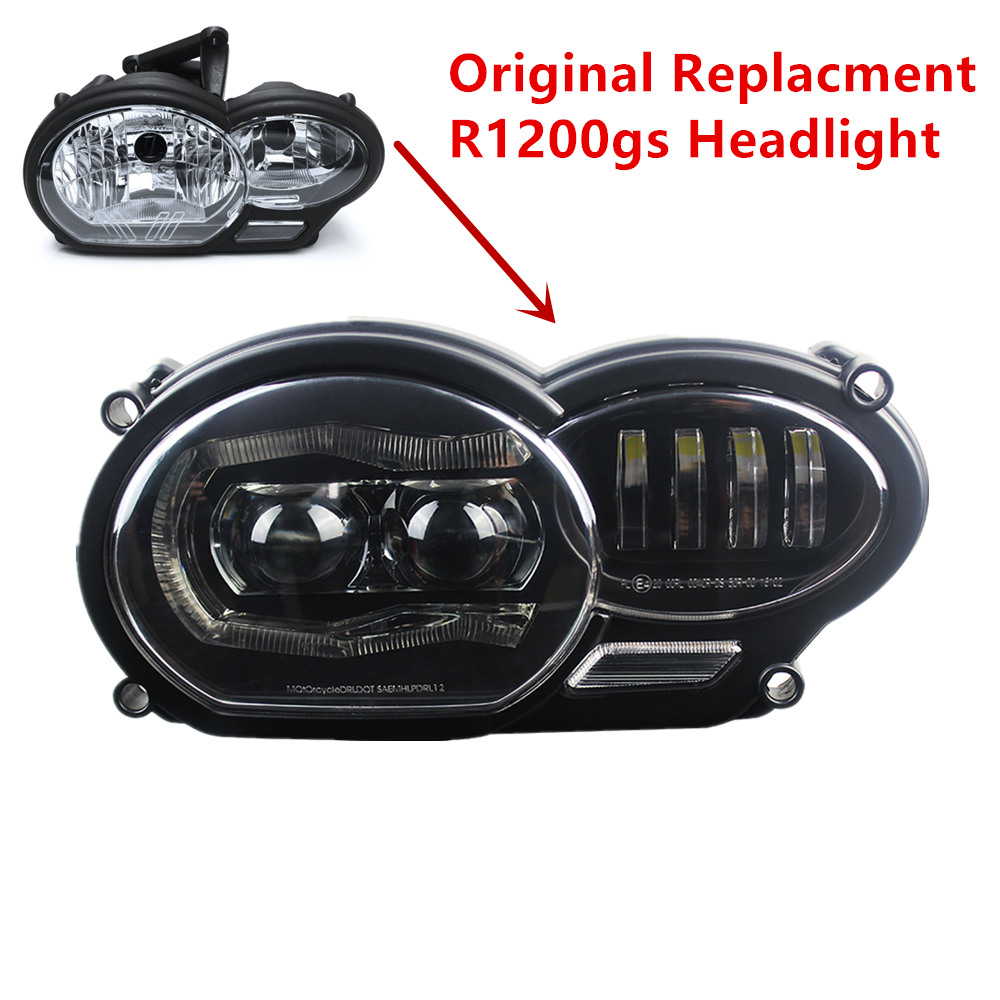 For R1200SG LED LEDs Headlight For BMW R1200GS Oil Cooler 2004-2012 Hi Low Beam LED Lights Assembly Kit