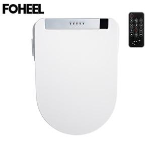 Image 5 - FOHEEL Toilet Seat Intelligent Elongated Electric LCD 3 Color Bidet Cover Smart Bidet Heating Sits Led Light Wc