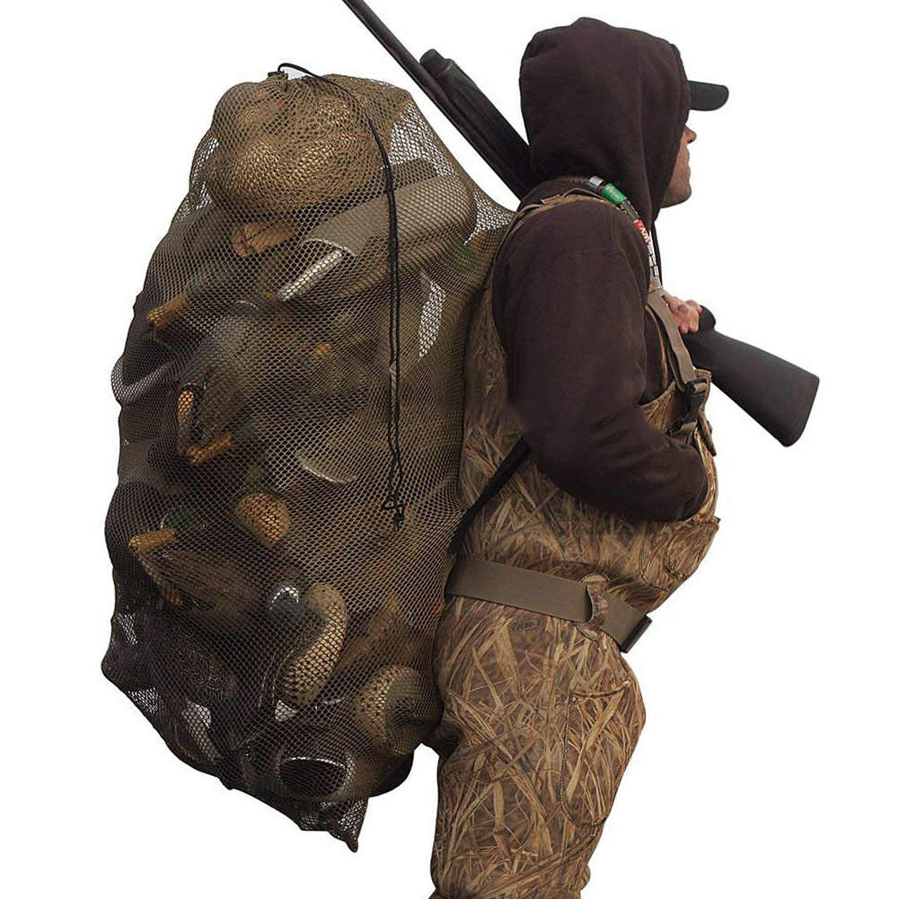 Hunting Adjustable Shoulder Straps Mesh Decoy Bags For Duck Goose Decoy Polyester Poratble Bag Duck Decoy Bag