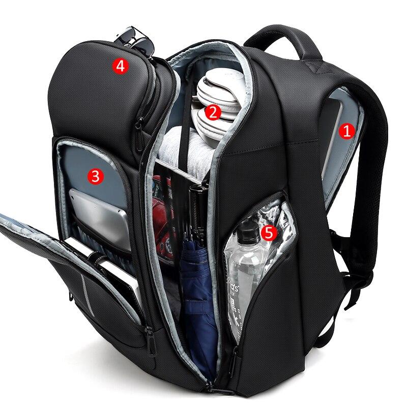 Mark Ryden, мужской многофункциональный рюкзак, usb зарядка, 17 дюймов, сумка для ноутбука, большая емкость, водонепроницаемые дорожные сумки для м... - 3