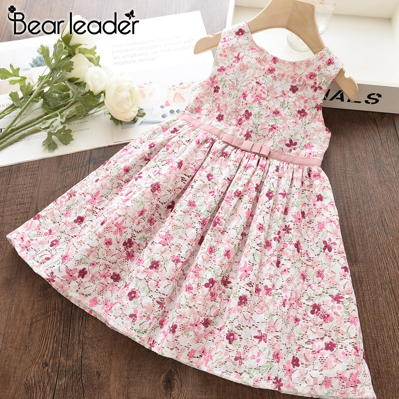 Bear Leader Girls Dress New Summer Kids Girl Princess Dresses Floral Sweet Dress Lovely Casual Costume Children Clothing 3 8Y