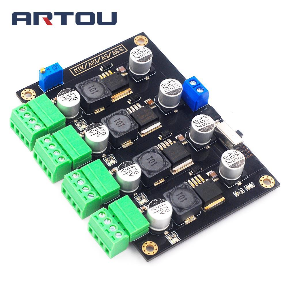 LM2596 Multi Channel Switching Power Supply 3.3V/5V/12V/ADJ Adjustable Voltage Output Power Supply Module