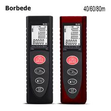Borbede Laser Distance Meter 40M 60M 80M Handheld Portable Mini Rangefinder Measure Tape