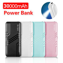 30000mah Portable Charger Power Bank For IPhone Samsung Xiaomi External Battery Bank Dual USB Portable Charging Poverbank(China)
