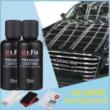 2 pces carro de vidro líquido cerâmica revestimento do carro à prova dnano água nano cerâmica pintura do carro cuidado líquido anti-risco super hidrofóbico