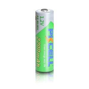 Image 2 - 8 個のx pkcell aa低自己放電バッテリーニッケル水素 1.2 v 2200 バッテリー単三充電式バッテリー 2 個バッテリー保持ケースボックス