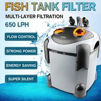 650LPH 9.3W Aquarium External Fish Tank Canister Filter for Aqua Fish Tank Filtration with Intake Output Hose Pet Supplies