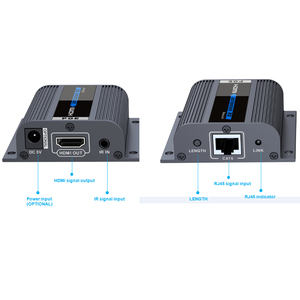 Image 4 - LKV714Pro HDMI UTP ספליטר 1X4 HDMI extender ידי cat5e/6 כבל עד 40M עם 4 מקלטי HDMI כלול + 1 HDMI לולאה החוצה
