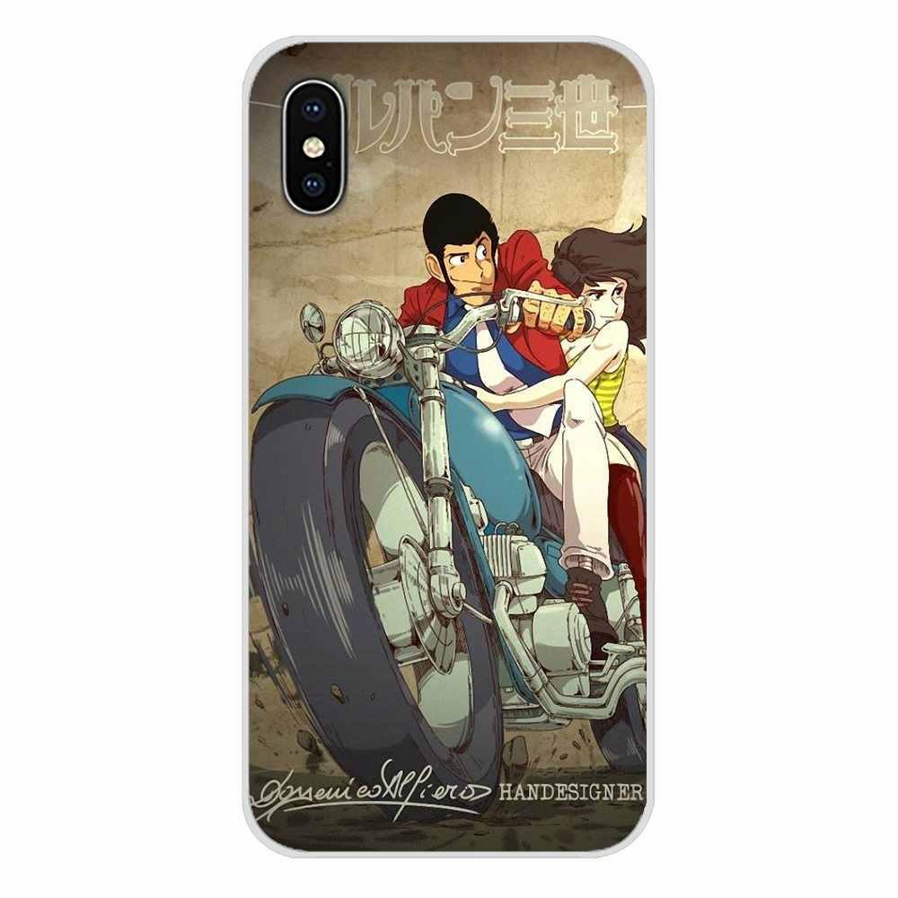 Para Xiaomi mi 4 mi 5 mi 5S mi 6 mi A1 A2 5X6X8 9 Lite SE Pro mi Max mi x 2 3 2S accesorios de la cáscara del teléfono cubre Lupin Iii