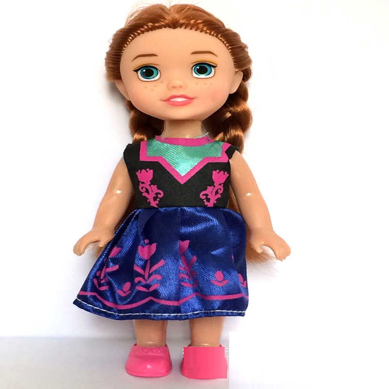 16 Cm Beku Putri Anna Boneka Elsa Ratu Salju Boneka Gadis Tindakan Mainan Angka Mainan Mewah untuk Anak-anak Ulang Tahun Natal hadiah Mainan