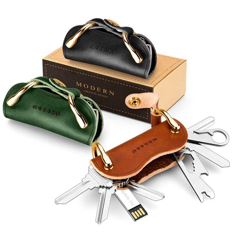 Modern - Brand New Genuine Leather Smart Key Wallet DIY Keychain EDC Pocket Car Key Holder Key Organizer Holder