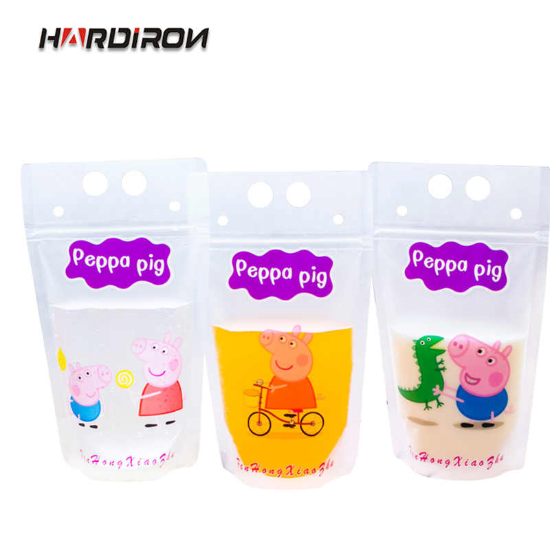 HARDIRON Stand-up Plastic Juice Packaging Pouch Milk Coffee Beverage Packet Disposable Ziplock Bags